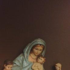 Arte: LOTE DE 8 FIGURAS RELIGIOSAS DE ESCAYOLA. Lote 180026827