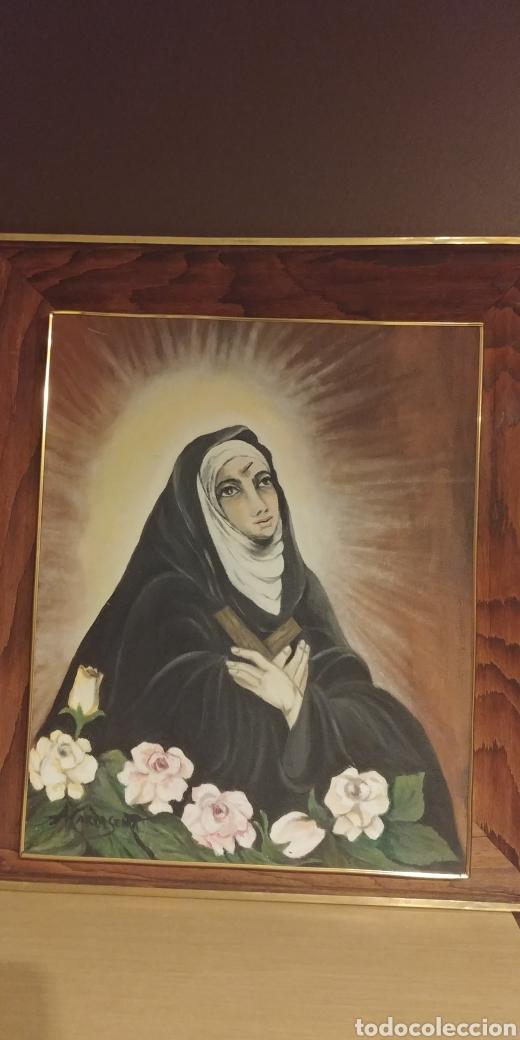 SANTA RITA DE CASIA OLEO SOBRE LIENZO ENMARCADO (Arte - Arte Religioso - Pintura Religiosa - Oleo)