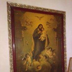 Arte: ANTIGUA Y GRANDE LITOGRAFÍA CON SAN JOSÉ Y EL NIÑO JESÚS.. Lote 180087038