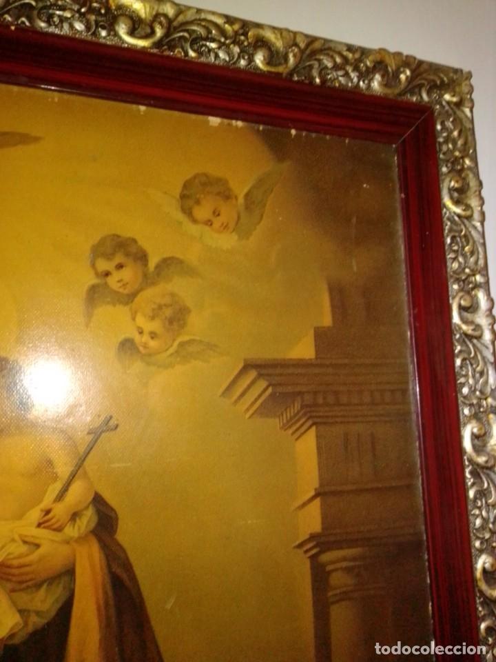 Arte: Antigua y grande litografía con San José y el Niño Jesús. - Foto 5 - 180087038