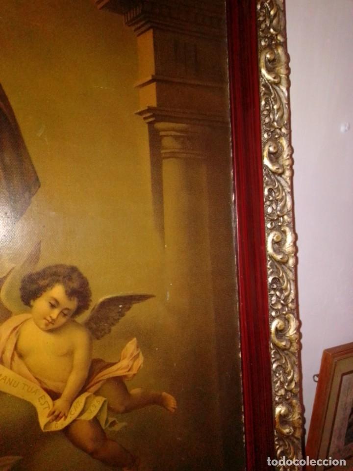 Arte: Antigua y grande litografía con San José y el Niño Jesús. - Foto 6 - 180087038