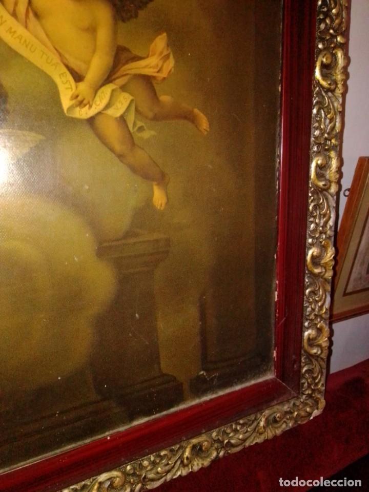 Arte: Antigua y grande litografía con San José y el Niño Jesús. - Foto 7 - 180087038