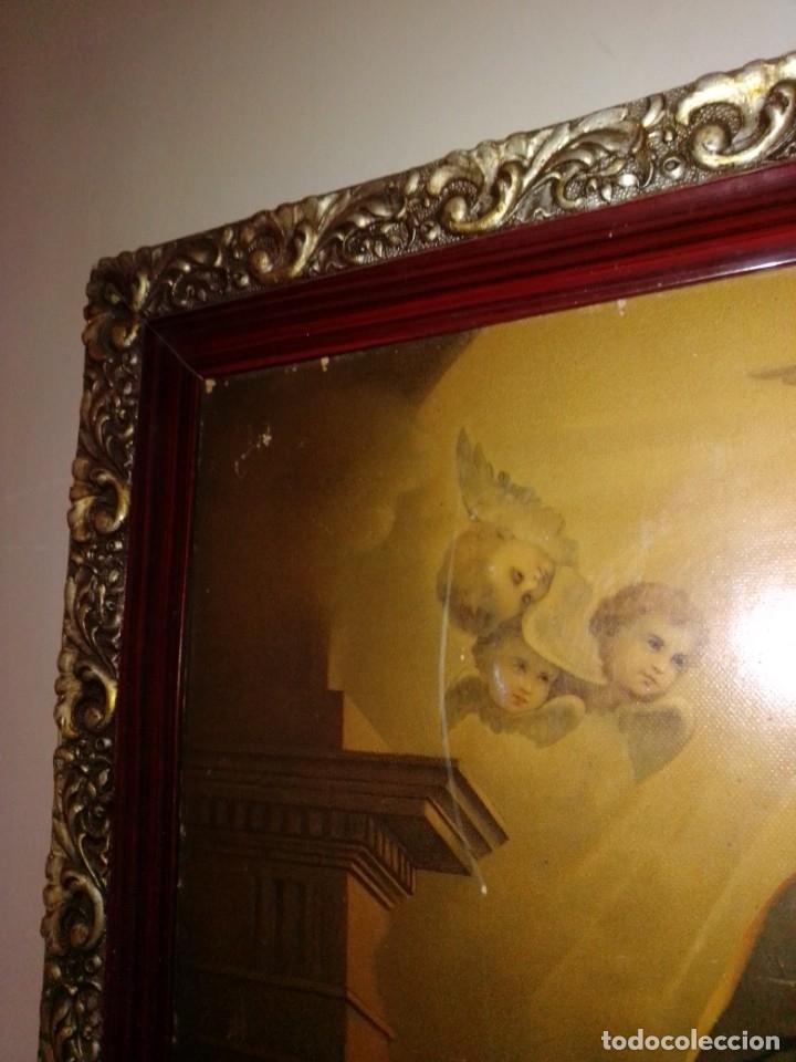 Arte: Antigua y grande litografía con San José y el Niño Jesús. - Foto 10 - 180087038
