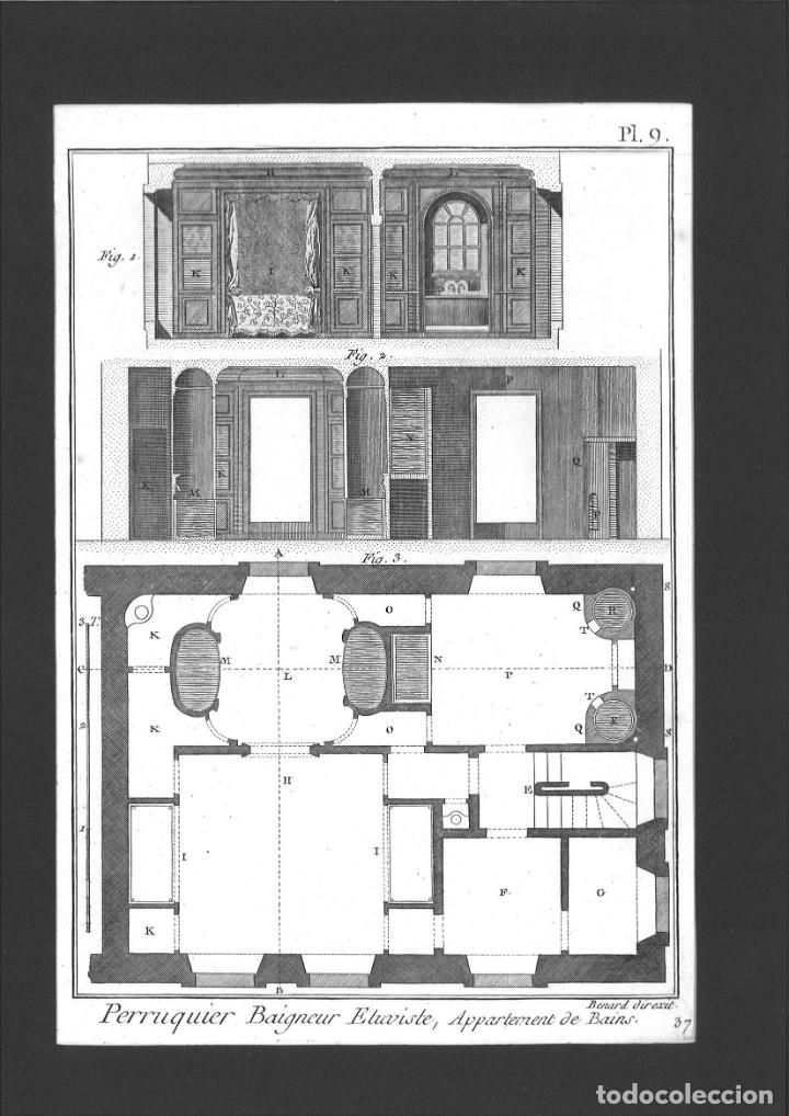 BERNARD DIREXIT. GRABADO SIGLO XVIII: PERRUQUIER BAIGNEUR ETUVISTE, APPARTEMENT DE BAINS (Arte - Arte Religioso - Grabados)