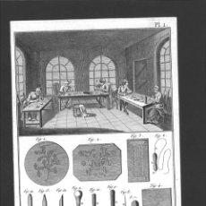 Arte: BERNARD DIREXIT. GRABADO SIGLO XVIII: PIQUEUR ET INCRUSTEUR DE TABATIERE, OUVERAGES. Lote 180115931