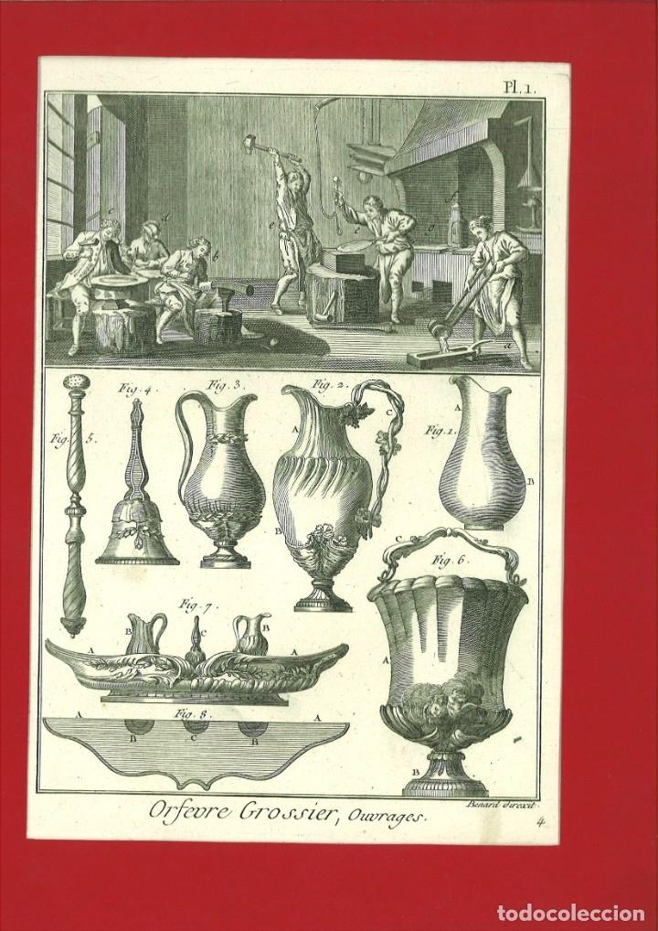 BERNARD DIREXIT. GRABADO SIGLO XVIII: ORFEVRE GROSSIER ,OUVRAGES (Arte - Arte Religioso - Grabados)