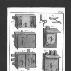 Arte: BERNARD DIREXIT. GRABADO SIGLO XVIII: SERRURERIE, SERRURES D'ARMOIRES ET DE TIROIRS. Lote 180117293