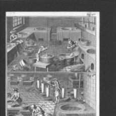 Arte: BERNARD DIREXIT. GRABADO SIGLO XVIII: TARTRE, PURIFICATION & PROCÉDÉS DE VENISE ET DE MONTPELLIER. Lote 180118001