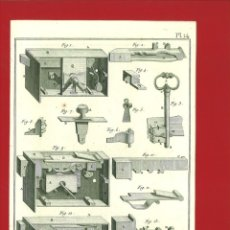 Arte: BERNARD DIREXIT. GRABADO SIGLO XVIII: SERRURERIE, SERRURES DE PORTES. Lote 180118107