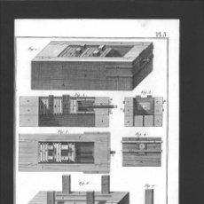 Arte: BERNARD DIREXIT. GRABADO SIGLO XVIII: TABLETIER CORNETIER, PRESSE A VIS. Lote 180118450