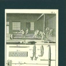 Arte: BERNARD DIREXIT. GRABADO SIGLO XVIII: TIREUR D'OR, ATTELIER DE L'ARQUE ET SES DÉVELOPPEMENS. Lote 180120141