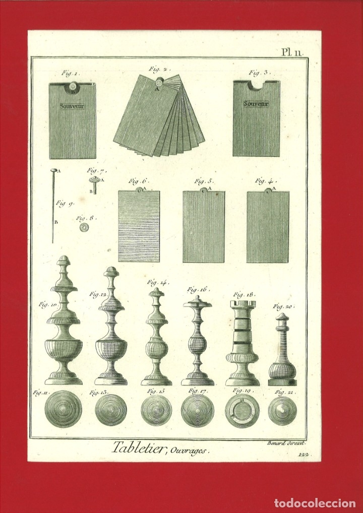 BERNARD DIREXIT. GRABADO SIGLO XVIII: TABLETIER, OUVRAGES (Arte - Arte Religioso - Grabados)