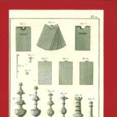 Arte: BERNARD DIREXIT. GRABADO SIGLO XVIII: TABLETIER, OUVRAGES. Lote 180120788