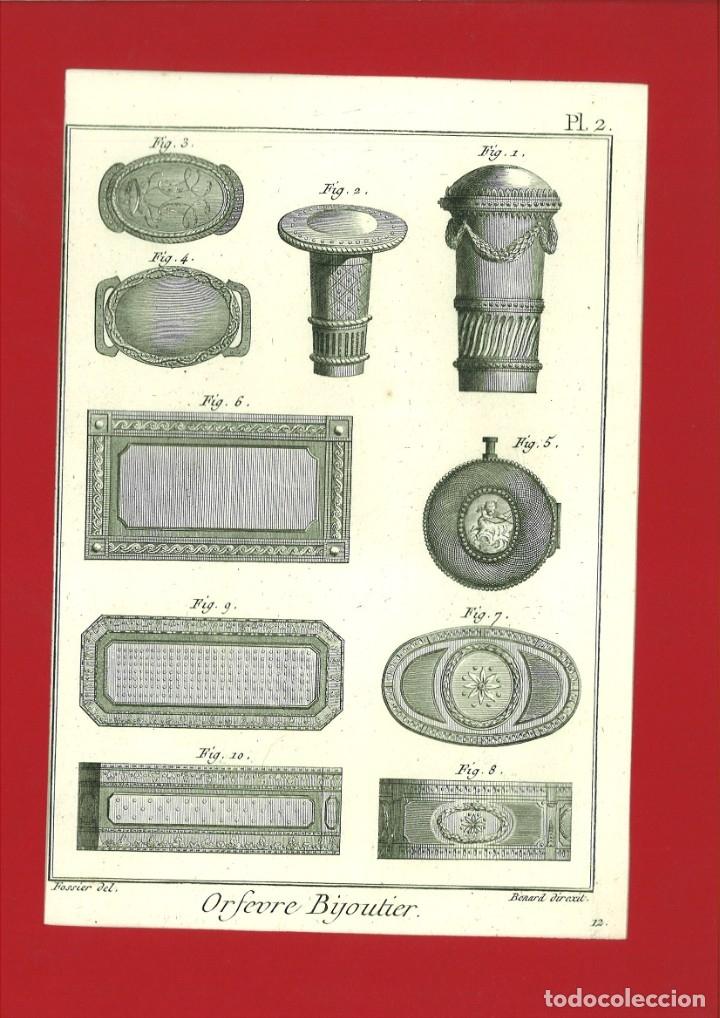 BERNARD DIREXIT. GRABADO SIGLO XVIII: ORFEVRE BIJOUTIER (Arte - Arte Religioso - Grabados)