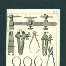 Arte: BERNARD DIREXIT. GRABADO SIGLO XVIII: ORFEVRE GROSSIER , OUTILS. Lote 180122888