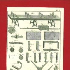 Arte: BERNARD DIREXIT. GRABADO SIGLO XVIII: ORFEVRE GROSSIER , BONES À TIRER AU MOULINET ET AUTRES. Lote 180123421