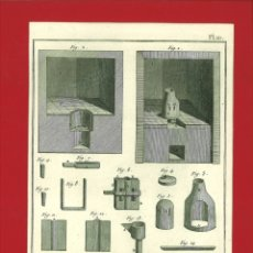 Arte: BERNARD DIREXIT. GRABADO SIGLO XVIII: ORFEVRE GROSSIER , GRAND FOURNEAU. Lote 180123596
