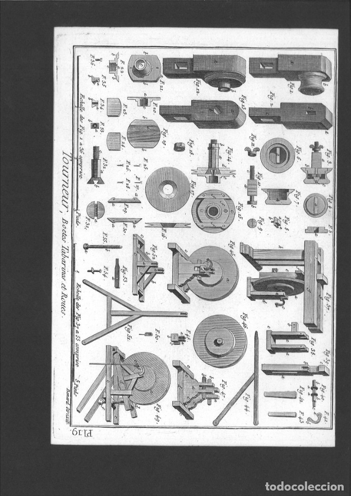 BERNARD DIREXIT. GRABADO SIGLO XVIII: TOURNEUR, BOETES TABARINES ET ROUES (Arte - Arte Religioso - Grabados)