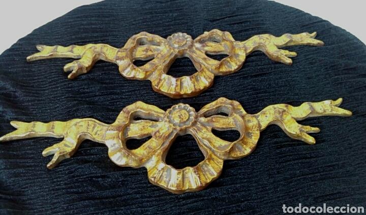 Arte: Fragmentos de retablo. Madera y pan de oro. - Foto 2 - 180159840