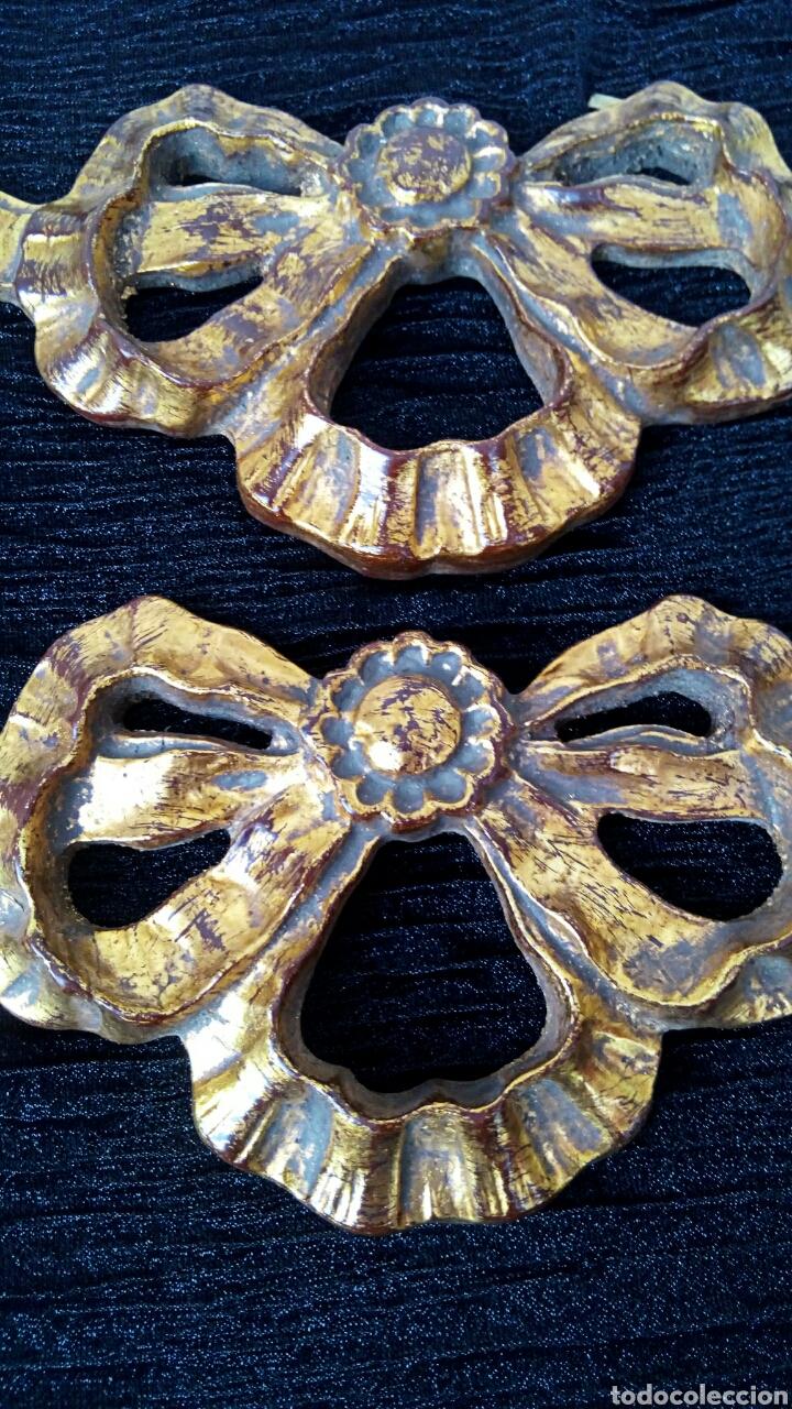 Arte: Fragmentos de retablo. Madera y pan de oro. - Foto 3 - 180159840