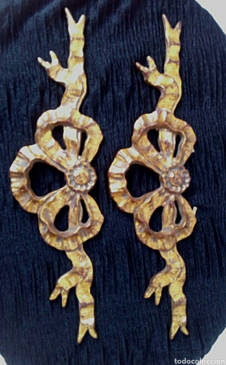 Arte: Fragmentos de retablo. Madera y pan de oro. - Foto 4 - 180159840