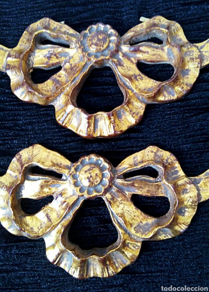 Arte: Fragmentos de retablo. Madera y pan de oro. - Foto 7 - 180159840