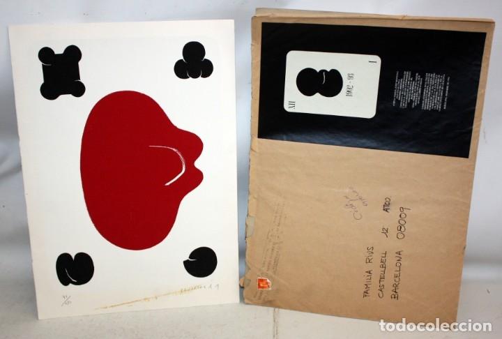 Arte: JOAN CRUSPINERA (TIANA, BARCELONA, 1945) LITOGRAFIA FIRMADA A MANO CON TIRAJE 49/250 - Foto 4 - 180184741