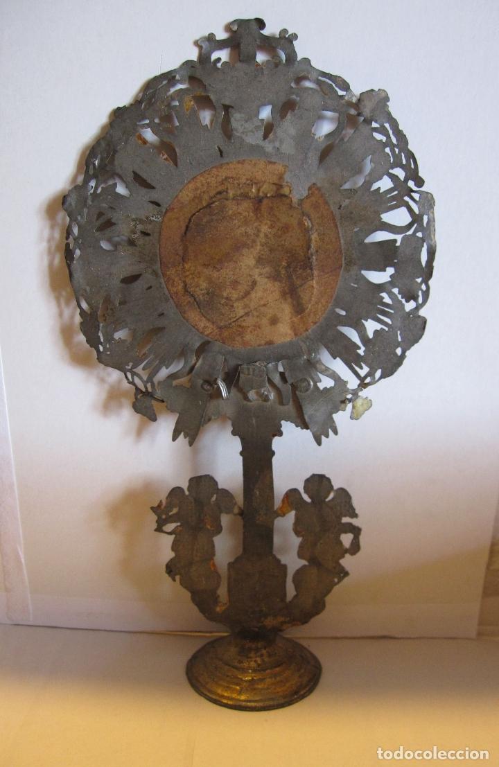 Arte: CUSTODIA DE METAL. SIGLO XIX.DORADA Y PLATEADA.21 X 11,5 X 4 CM - Foto 8 - 180190157