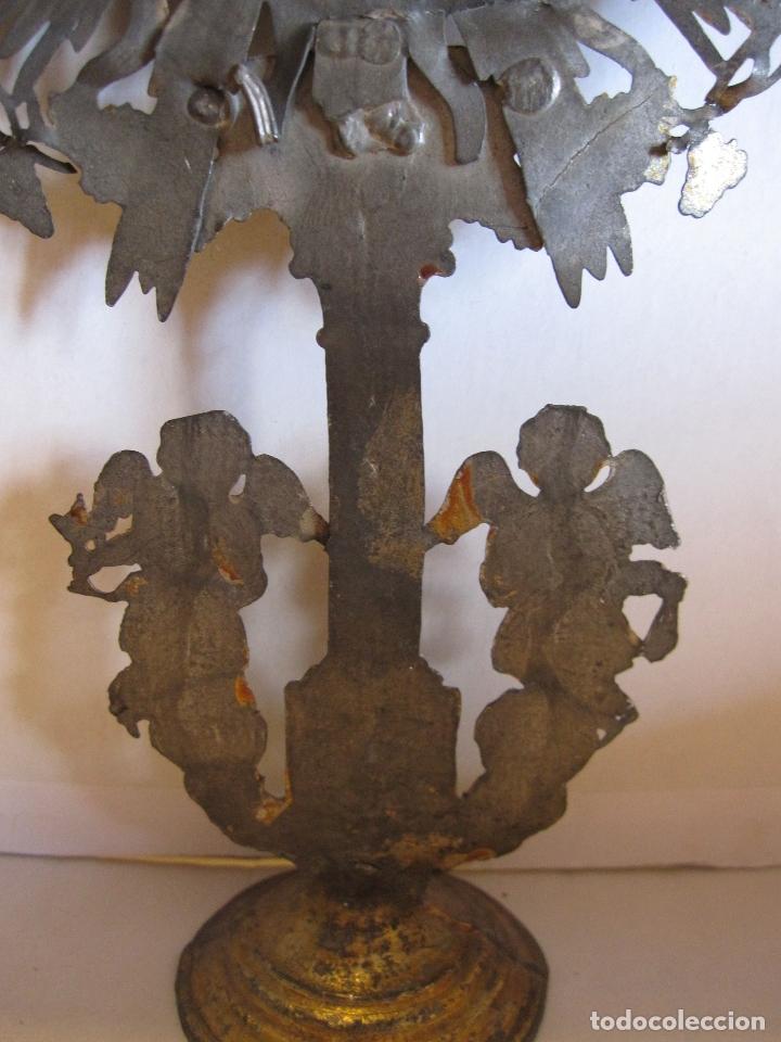Arte: CUSTODIA DE METAL. SIGLO XIX.DORADA Y PLATEADA.21 X 11,5 X 4 CM - Foto 9 - 180190157
