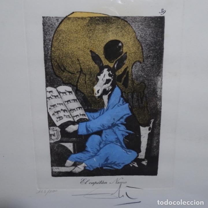 Arte: Grabado de dali.el capitán nemo.123/200.vision surrealista de dali sobre Goya. - Foto 2 - 180207317