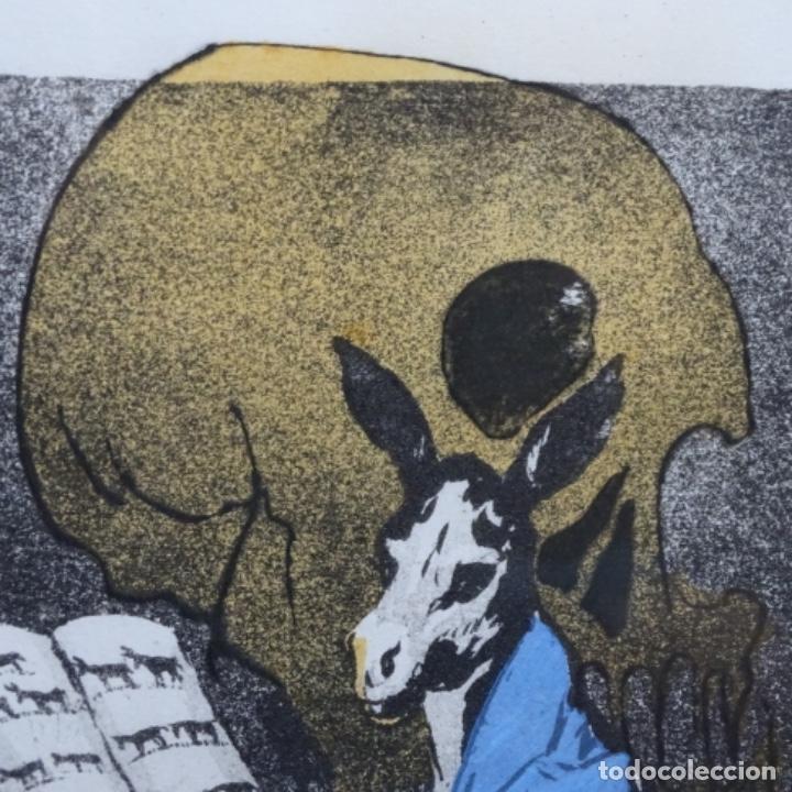 Arte: Grabado de dali.el capitán nemo.123/200.vision surrealista de dali sobre Goya. - Foto 5 - 180207317