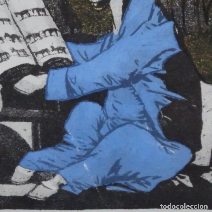 Arte: Grabado de dali.el capitán nemo.123/200.vision surrealista de dali sobre Goya. - Foto 6 - 180207317