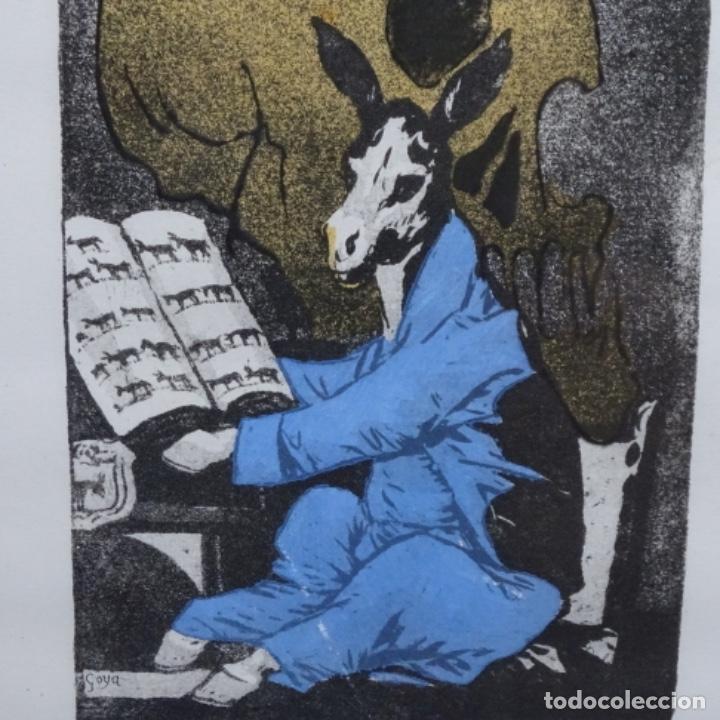 Arte: Grabado de dali.el capitán nemo.123/200.vision surrealista de dali sobre Goya. - Foto 7 - 180207317