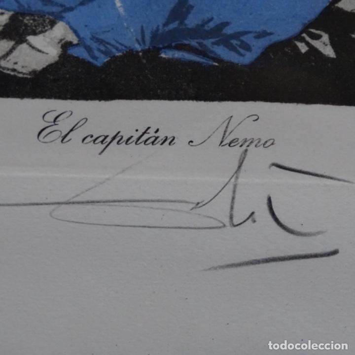 Arte: Grabado de dali.el capitán nemo.123/200.vision surrealista de dali sobre Goya. - Foto 10 - 180207317