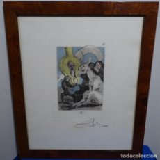 Arte: GRABADO DE DALI.123/200.VISION SURREALISTA DE DALI SOBRE GOYA.. Lote 180207361