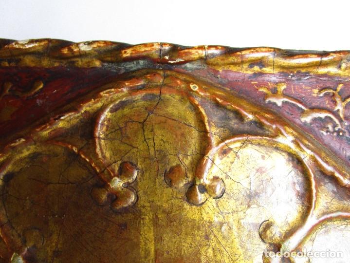 Arte: MARAVILLOSO RETABLO AL OLEO EN MADERA TIPO GOTICO HISPANO FLAMENCO IMAGEN VIRGEN AVE MARIA - Foto 5 - 180251497