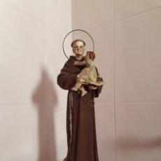 Arte: ARTE OLOTENSE SAN ANTONIO CON NIÑO JESUS REALIZADO EN PASTA MADERA. Lote 180256140