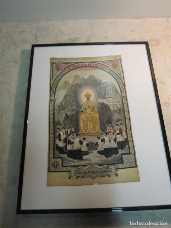 ESCOLANIA CON NTRA. SRA. DE MONTSERRAT, ESTAMPADO EN TELA, ENMARCADO (Arte - Arte Religioso - Pintura Religiosa - Otros)