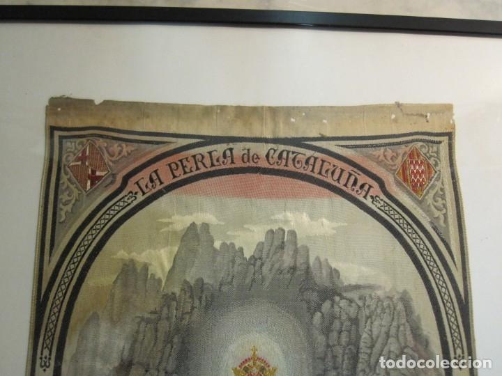 Arte: ESCOLANIA CON NTRA. SRA. DE MONTSERRAT, ESTAMPADO EN TELA, ENMARCADO - Foto 3 - 180256652