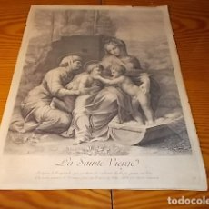 Arte: IMPRESIONANTE GRABADO DE LA SANTA VIRGEN SIGLO XIX. . 32 X 44 CM. TODO UNA PIEZA DE COLECCIONISTA!!!. Lote 180429238