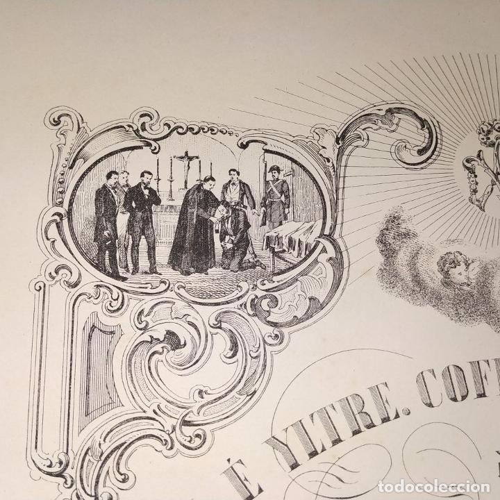 Arte: LITOGRAFÍA DE LA VIRGEN DE LOS DESAMPARADOS. IMP. ROIG. BARCELONA. ESPAÑA. 1879 - Foto 5 - 180478076