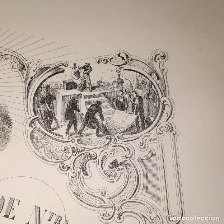 Arte: LITOGRAFÍA DE LA VIRGEN DE LOS DESAMPARADOS. IMP. ROIG. BARCELONA. ESPAÑA. 1879 - Foto 6 - 180478076