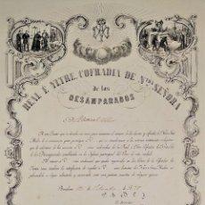 Arte: LITOGRAFÍA DE LA VIRGEN DE LOS DESAMPARADOS. IMP. ROIG. BARCELONA. ESPAÑA. 1879. Lote 180478076