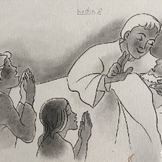 Arte: EL SACRAMENTO DE LOS ENFERMOS. PIERRE MONNERAT (SUIZA 1917-ESPAÑA 2005). Lote 180481230