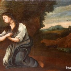 Arte: ESCUELA ESPAÑOLA DEL SIGLO XVIII. OLEO SOBRE TELA DE AUTOR ANONIMO. MARIA MAGDALENA. Lote 180483582