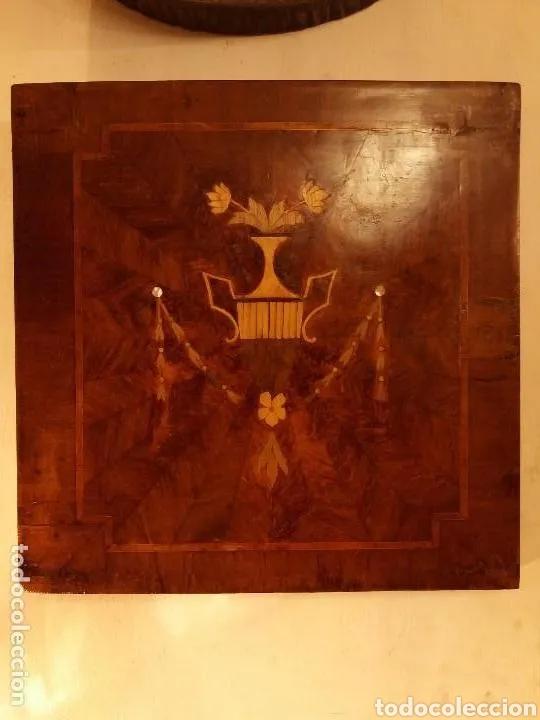 CUADRO MARQUETERIA SIGLO XIX BUEN ESTADO (Arte - Arte Religioso - Retablos)