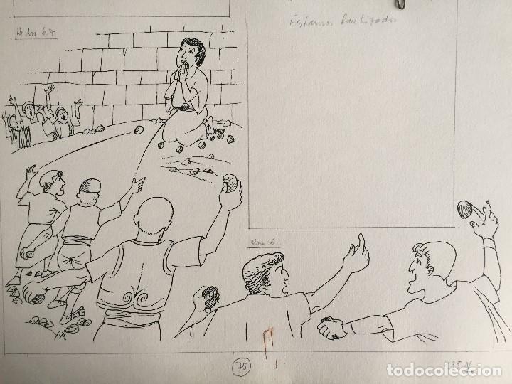 SAN ESTEBAN, HECHOS 6.7. PIERRE MONNERAT (LAUSANNE, SUIZA 1917-ESPAÑA 2005) (Arte - Arte Religioso - Pintura Religiosa - Otros)