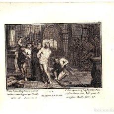 Arte: GRABADO RELIGIOSO FLAGELACION DE JESUCRISTO. SIGLO XVIII. Lote 180860983