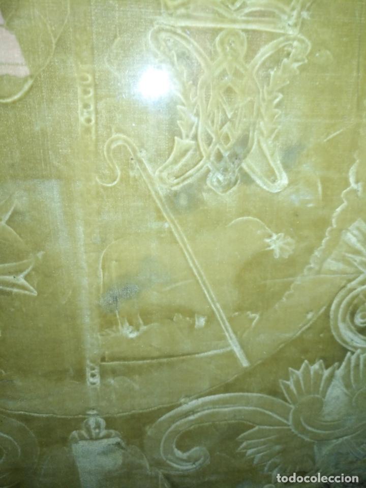 Arte: MUY ANTIGUO GRABADO ESCUDO VIRGEN DIVINA PASTORA DE LAS ALMAS DE CADIZ - MARCO MADERA ORO - Foto 4 - 180873840