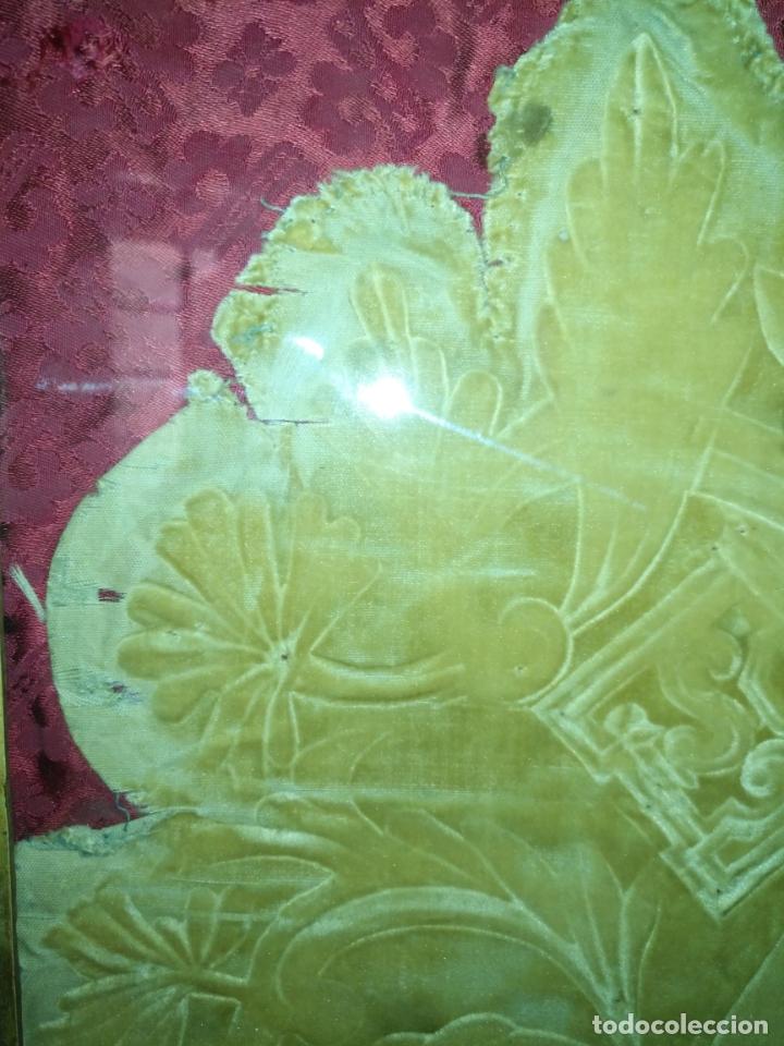 Arte: MUY ANTIGUO GRABADO ESCUDO VIRGEN DIVINA PASTORA DE LAS ALMAS DE CADIZ - MARCO MADERA ORO - Foto 7 - 180873840